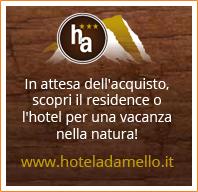 In attesa dell'acquisto, scopri il residence o l'hotel per una vacanza nella natura! Visita il sito www.hoteladamello.it